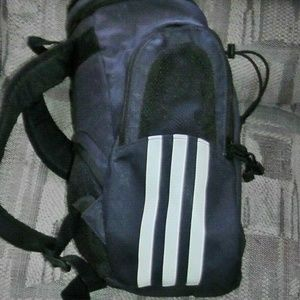 Vintage Adidas Navy Blue White Sports Backpack